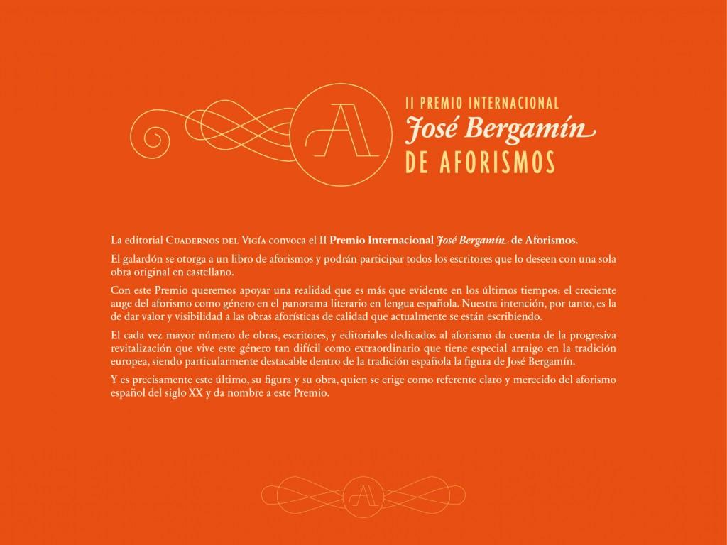 CONVOCATORIA II Premio Internacional de Aforismos-01